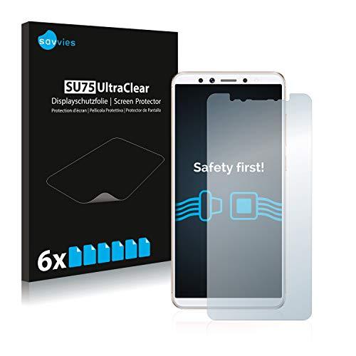 savvies Protector Pantalla Compatible con Lenovo K5 Pro (6 Unidades) Película Ultra Transparente