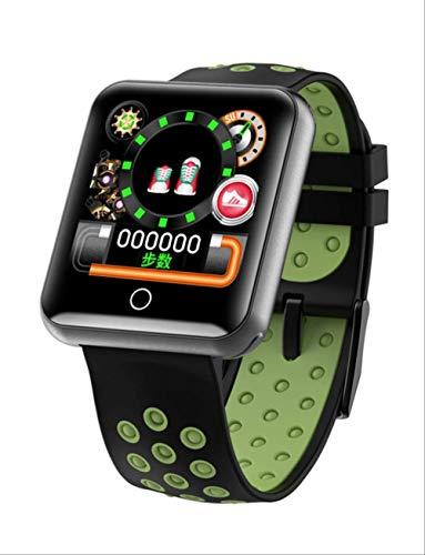 YUJY Smartwatch Q18 Smart Armband 1,54 '' Herzfrequenzmesser Blutdruckmessung Ip68 Wasserdichtes Smart Armband Abnehmbares Armband Grün
