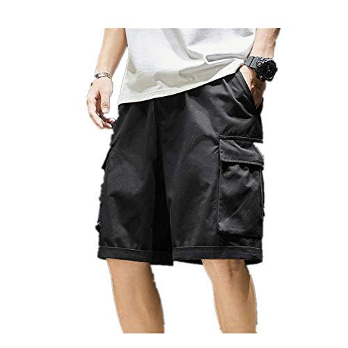 N\P Pantalones cortos de verano de los hombres ocasionales de bolsillo lateral pantalones cortos de carga - - X-Small