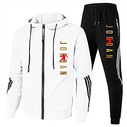 Chándal para hombre, chaqueta de 2 piezas, pantalones deportivos para correr con cremallera completa, pantalones de chaqueta, con logo de Jordan para hombre y talla S-3xl