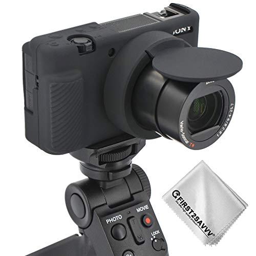 Gummi Ganzkörper- präzise Passform Professionelle Kameratasche Silikon-Schutzhülle Tasche Kompatibel Mit Sony ZV-1 (schwarz)