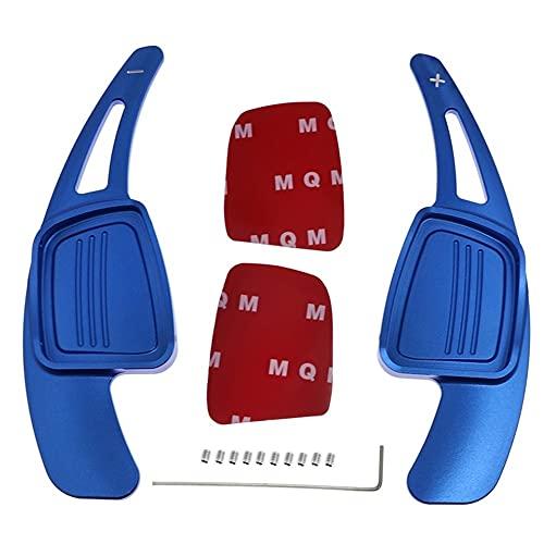 NDDHH Rueda del Volante Paddle 2 Unids/Lote Palanca De Cambios De Volante De Coche para Au-di A4L A5 Q7 TT TTS S4 Q2 S3 2015 2016 2017 (Color : Azul)