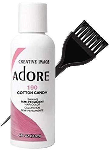 ADORE Creative Image Shining SEMI-PERMANENT Hair Color (STYLIST KIT) No Ammonia, No Peroxide, No Alcohol Haircolor Semi Permanent Dye (190 Cotton Candy)