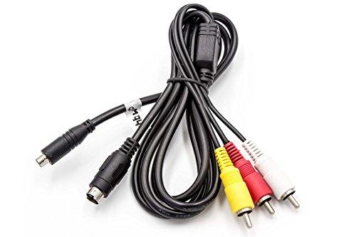 vhbw Audio Video AV Composite Kabel kompatibel mit Sony DCR-SX30, DCR-SX30E, DCR-SX31, DCR-SX31E, DCR-SX34, DCR-SX34E Kamera, Digitalkamera
