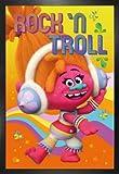 1art1 Trolls Poster und MDF-Rahmen - Rock 'N Roll (91 x
