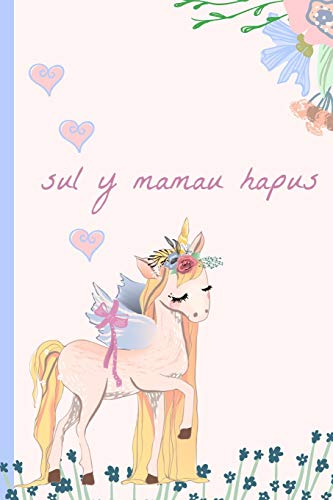 Sul Y Mamau Hapus: Notebook, (Welsh, Happy Mothers Day) Blank Lined journal, (great alternative to a card) Unicorn