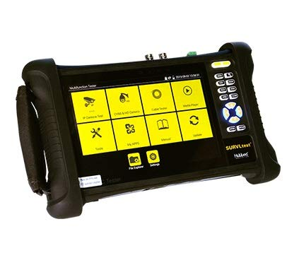 Hobbes HST319 SURVLtest 7 Inch IPS Retina Touch Screen IP/CCTV 8MP CVBS/TVI/CVI/AHD H.265 4K Multi Function Camera Tester with WiFi/PoE/ONVIF/Cable Trace and Test