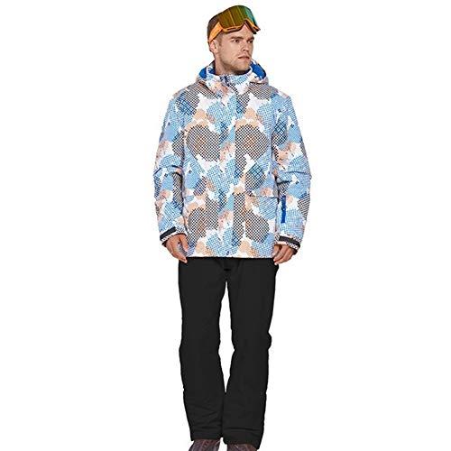 JSYDTX Impermeabile Ski Jacket Warm Winter Snow Coat Mountain Windbreaker Incappucciato Vestito degli Uomini di Outdoor Snowboard Traje De Esqui Hombre Terno Ropa Eski (Colore : 3, Size : L)