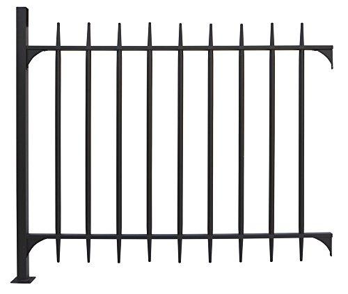 VERDELOOK Pannello cancello modulare in Metallo Verniciato, 128x107x4 cm, Nero