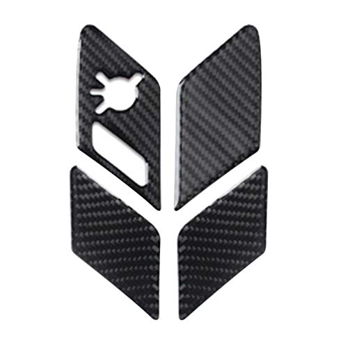 FZHENG FIT FOR FOR Golf 7 MK7 2014-2019 Styling Bloqueo Interior de la Puerta del Interruptor del Interruptor de la Cubierta de la Cubierta de la Fibra de Carbono Pegatina Interior del Interior