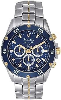 Bulova Marine Star Chronograph Mens Stainless Steel Watch