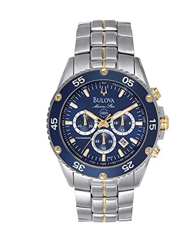 Bulova Men's marine star chronograph watch Stainless Steel ...