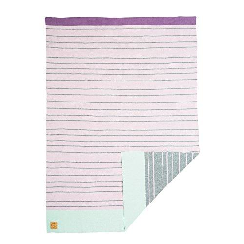 LÄSSIG Baby Krabbeldecke Strickdecke Spieldecke Schmusedecke Kuscheldecke weich/Baby Blanket Light Pink/Grey