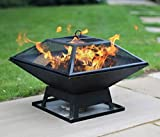 Direct121 products ltd Square Garden Fire Pit