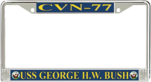 MilitaryBest USS George H.W. Bush CVN-77 License Plate Frame