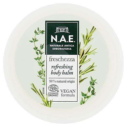 N.A.E. Baume Corps Fraîcheur Crème Hydratante Corps avec extraits de feuilles de thimo bio et romarin, Formule Vegana, 200 ml