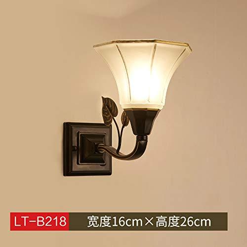 Agorl Nordic lampe de chevet applique murale chambre simple éclairage créatif salon applique murale allée, jaune LT 218 + lumière chaude
