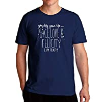 Eddany Simplify your life peace love and Felicity - Tシャツ