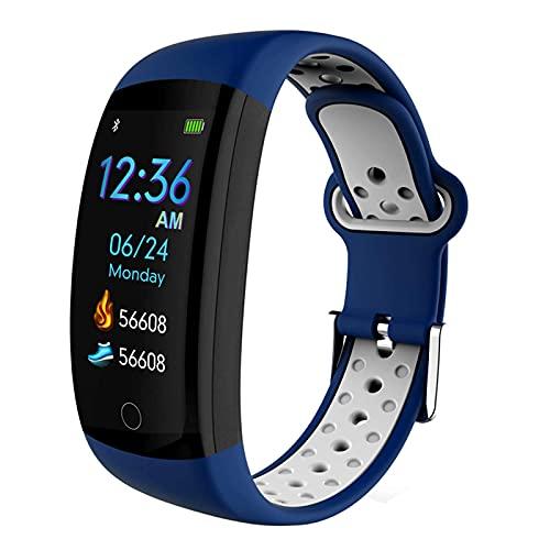 G&UWEI Fitness Tracker Watch, Pantalla Inteligente A Prueba De Táctiles Impermeables IP68 con Paso De Pedómetro Bluetooth, Notificaciones Relojes De Actividad para Hombres, Mujeres, Niños,Azul