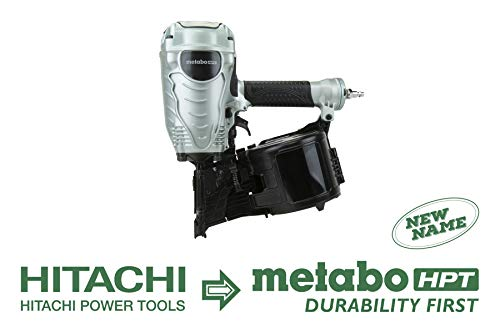 Metabo HPT NV90AGS Pneumatic Coil Framing Nailer, 1-3/4-Inch up to 3-1/2-Inch Wire Collated Coil Framing Nails, Tool-less Depth Adjustment, Convenient Side Load, Tilt Bottom Magazine, 5-Year Warranty