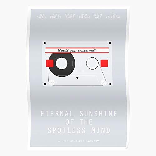 Mind Minimalist Film Gondry Of Jim Spotless Michel Poster Eternal Movie Carrey Sunshine The Regalo para la decoración del hogar Wall Art Print Poster 11.7 x 16.5 inch