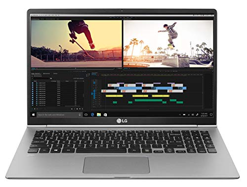 "LG Gram Laptop 15Z990 Notebook, Display 15.6"" Full HD IPS, Processore i5-8265U, RAM 8 GB DDR4, SSD 512 GB, Grafica UHD 620, HD Audio con DTS Headphone-X, Windows 10 Home (64bit), Argento"