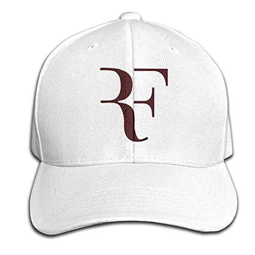 David A Beltran Logo RF Roger-Federer 1 Cappello a Sandwich con Visiera in Puro Colore Premium Sport Regolabile