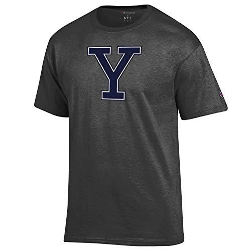 Adult Soft Style Mascot Tagless T-Shirt (Yale Bulldogs - Charcoal, XX-Large)