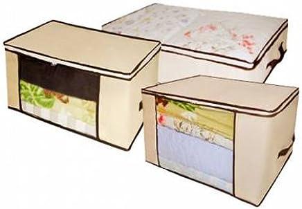 Organizador Multiuso VB Home com 3 unidades Marfim