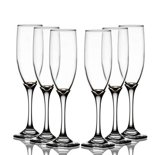 AHAI YU Cristal Premium - Cata de vinos Copa de champán, vástago de Vino de Cristal de Cristal de Cristal Largo Personalizado, irrompible Hombres o Mujeres