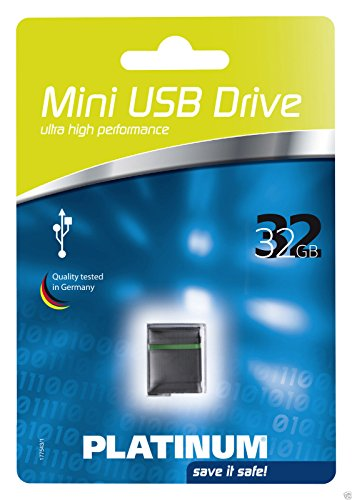 Platinum 32GB Mini USB-Stick USB 2.0 schwarz (177543)