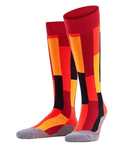 Falke SK4 Brick Skisokken, dames, kniekousen, scheerwolmix, 1 paar, verschillende kleuren, maat 35-42 - vochtregulerend, sneldrogend, verwarmend, direct contact met de schoen, lichte bekleding.