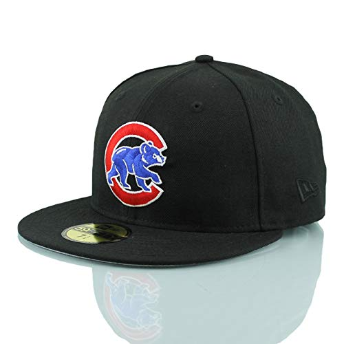 New Era Chicago Cubs Alternate Logo 59FIFTY Fitted MLB Cap Schwarz, 7 3/4