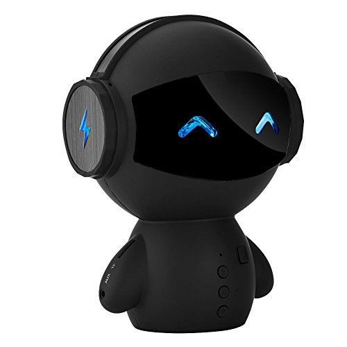 Wendry Robot Bluetooth luidspreker, draagbare stereo noise cancelling subwoofer luidspreker/powerbank, onderbescherming handsfree bellen/liedzeningen, voor smartphones, tablets pc, enz.