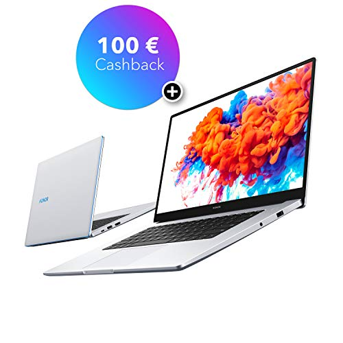 HONOR MagicBook 14 Laptop, 35,56cm (14 Zoll), Full HD IPS, 256 GB PCIe SSD, 8 GB RAM, AMD Ryzen 5 3500U, Fingerabdrucksensor, Windows 10 Home - Mystic Silver