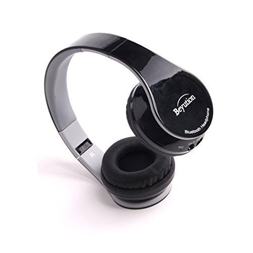 Best audio performance--Over-ear-- HiFi Stereo---With Micphone-- Bluetooth 4.0 Headphones Headset for Apple IPHONE/ iPAD/iTouch/ Samsung Galaxy cell phone/Samsung Galaxy Tablet/Toshiba/Sharp/Sony/ NOKIA/ Motorola/att/HTC/HUAWEI and all smart cell phone and all Tablet which have bluetooth device---Best quality--Retail Package--Best gift