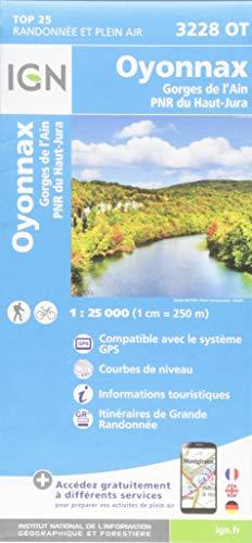 Oyonnax, Gorges de L'Ain, PNR du Haut Jura : 1/25 000