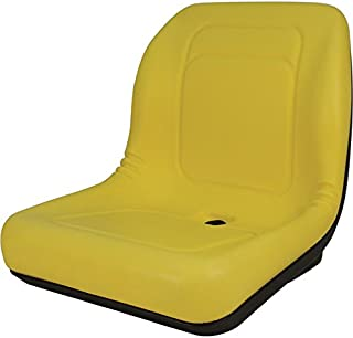 Deluxe High Back Universal Seat for UTV, Mower Tractor, Skid Steer Loader Water Proof (Yellow)