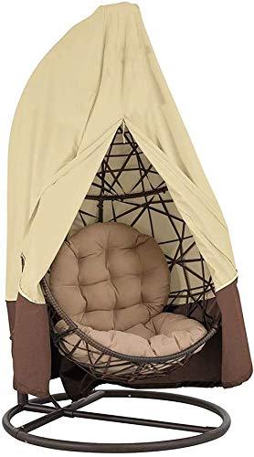 CHEYLIZI 420D - Funda protectora para sillón colgante con cremallera Oxford 190 x 115 cm/232 x 203 cm, cubierta impermeable para muebles de jardín y exterior