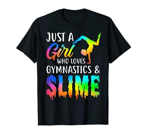 かわいいスマイルシャツ 体操やスライムが大好きなジャスト・ア・ガール Tシャツ