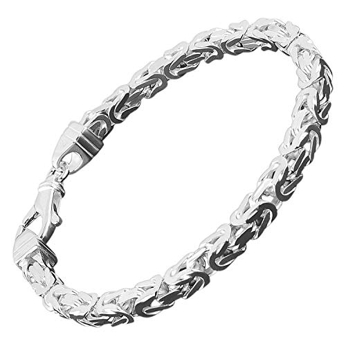 trendor Königskette Herren-Armband Sterlingsilber 925 Breite 4,7 mm 86106-23 23 cm