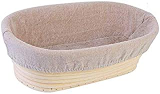 Bread Proofing Basket Bread 10 inch 25cm Dough Proofing Rising Rattan Basket with Linen Liner Cloth Handmade Rattan Bowl P...
