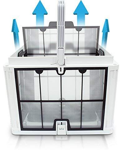 41C4xAagKwL - AHELT-J Elektrischer Poolroboter mit Leicht Zu Reinigenden Filterpatronen für Große Toplader, Ideal für Schwimmbäder im Boden bis zu 50 Fuß.