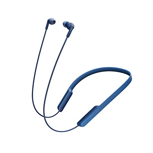 Sony MDR-XB70BT - Auriculares Bluetooth de contorno de cuello (EXTRA BASS, NFC, manos libres para Apple iPhone y Android, autonomía de 9 h), color azul