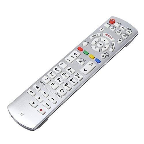 Aceown Ersatzfernbedienung Universal Fernbedienung für Panasonic Smart TV N2QAYB000842, N2QAYB000840, N2QAYB00101, N2QAYB000074, N2QAYB000928, N2QAYB000863 LCD LED HDTV 3D Smart TVs Modells