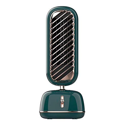 Ventilador de escritorio retro vertical,ventilador de torre de enfriamiento con humidificador en aerosol,enfriador de ventilador sin aspas,3 velocidades,humidificador de 230ml,carga USB,silencioso