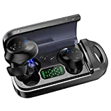 Bluetooth 5.0 True Wireless Earbuds with LED Display Wireless Charging Case Sweatproof TWS Stereo Headphones in Ear Built in Mic Headset Premium Sound with Deep Bass for Sports