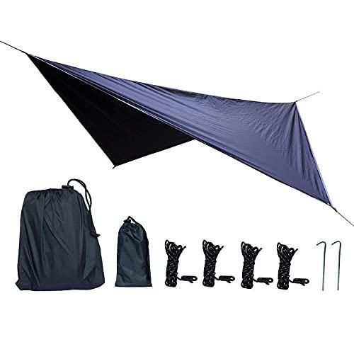 SXPSYWY Suministros de Camping Sunshade Outdoor Impermeable Sunscreen Tienda Círculo de Cuatro enamoras-Negro_Doble
