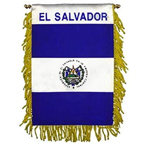 EagleEmblems WF1030 Mini-Ban, INT, EL Salvador (3x5''), Multicolor
