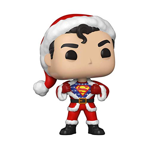 From DC Holiday, Superman with Sweater, as a stylized Pop! Stylized collectable stands 3 ¾ inches tall, perfect for any DC Holiday fan! Collect and display all DC Holiday POP! Vinyls!